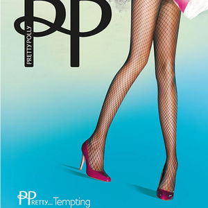 PRETTY POLLY FISHNET TIGHTS BLACK ONE SIZE